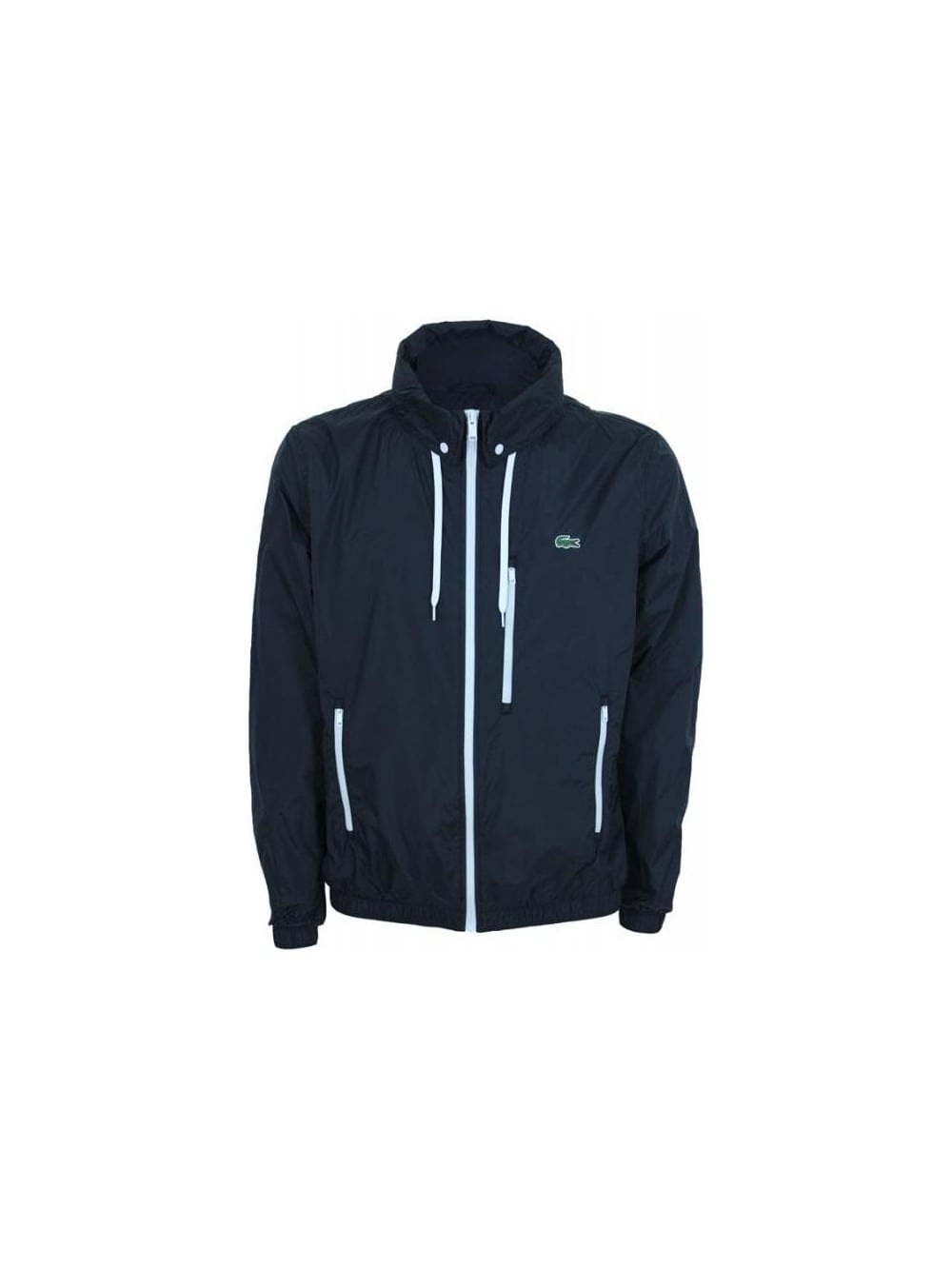 46ae0e27060e Lacoste Hooded Jacket in Black - Northern Threads