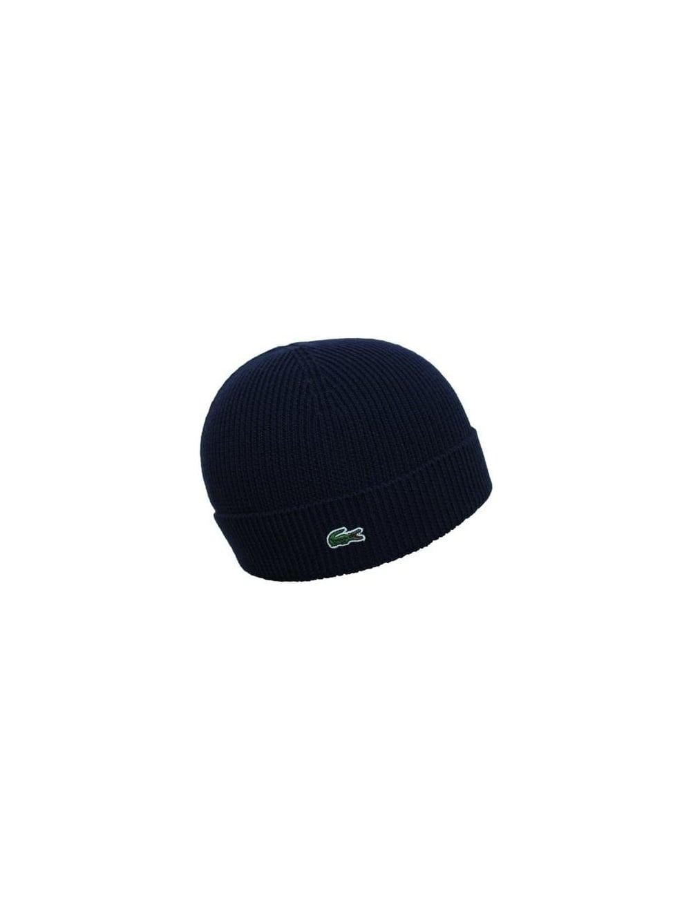 94611c1d0d2 Lacoste Knitted Logo Beanie in Navy - Northern Threads