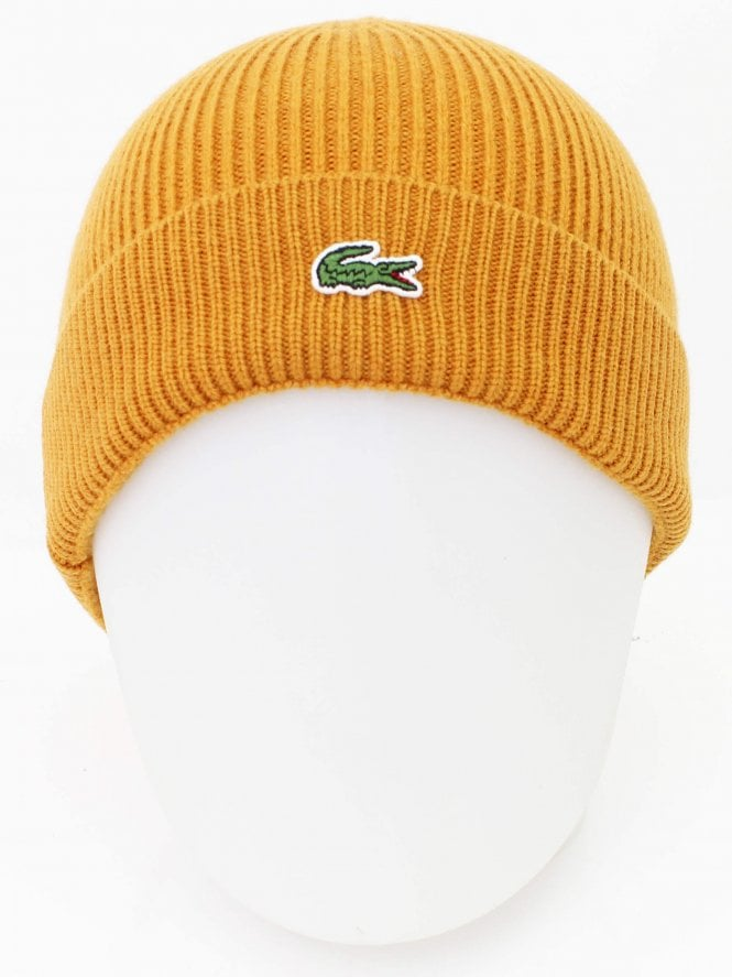 Lacoste Knitted Logo Beanie - Orange