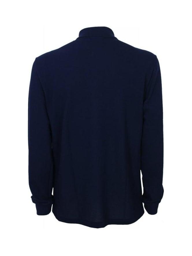 9174b00e263c ... lacoste paris polo shirt regular fit stretch cotton piqué d08d1 10b18   norway l1312 classic long sleeve polo marine 14d9b b7309