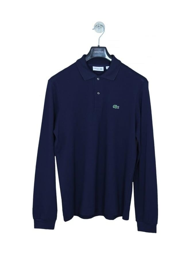 Lacoste L1312 Classic Long Sleeve Polo - Navy