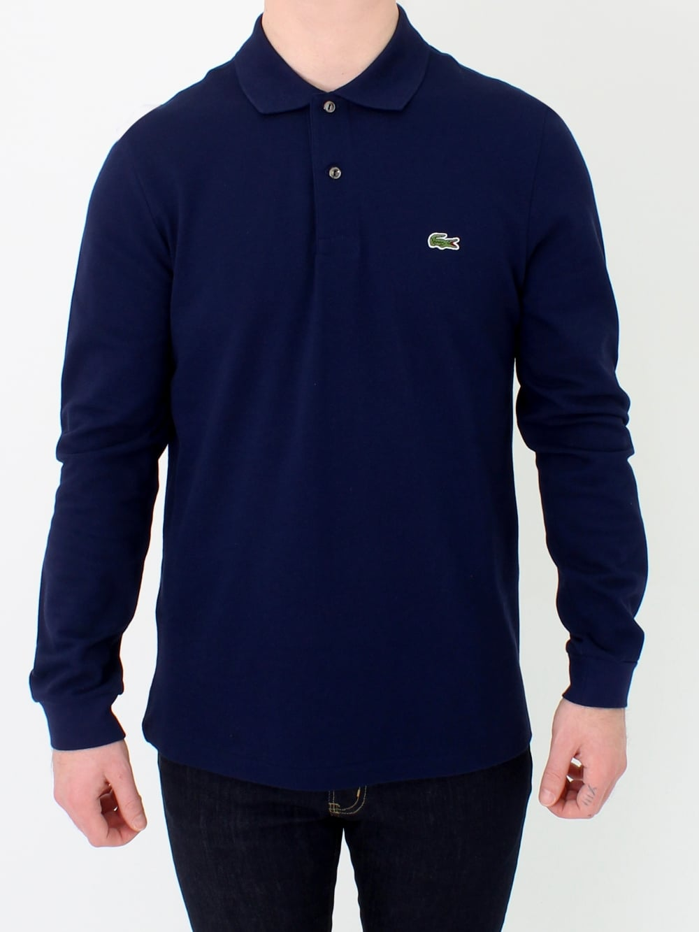 8b9cfdd8 Lacoste L1312 Long Sleeve Classic Polo in Navy | Northern Threads