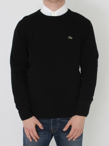 Lambswool Crew Neck Knit - Black