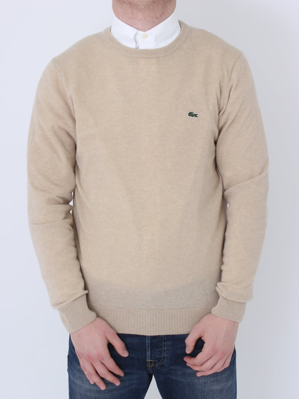 e5ce3e3f5f41 Lacoste Lambswool Crew Neck Knit in Claire - Northern Threads