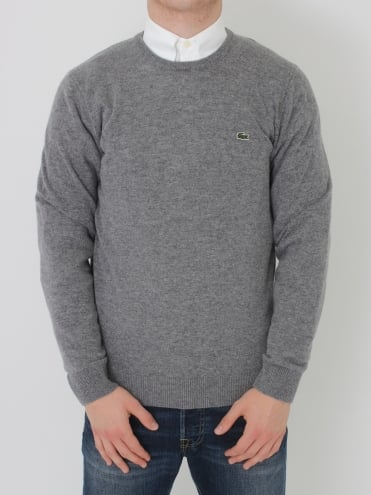 Lambswool Crew Neck Knit - Pierre Chine