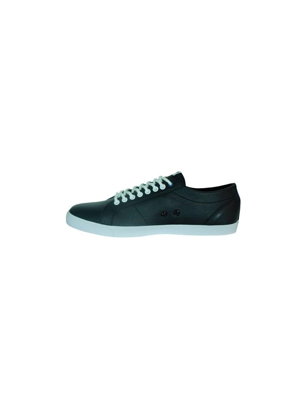 c71e3965ee70bd Lacoste Marcel Leather Trainers in Black White - Shop Lacoste at ...