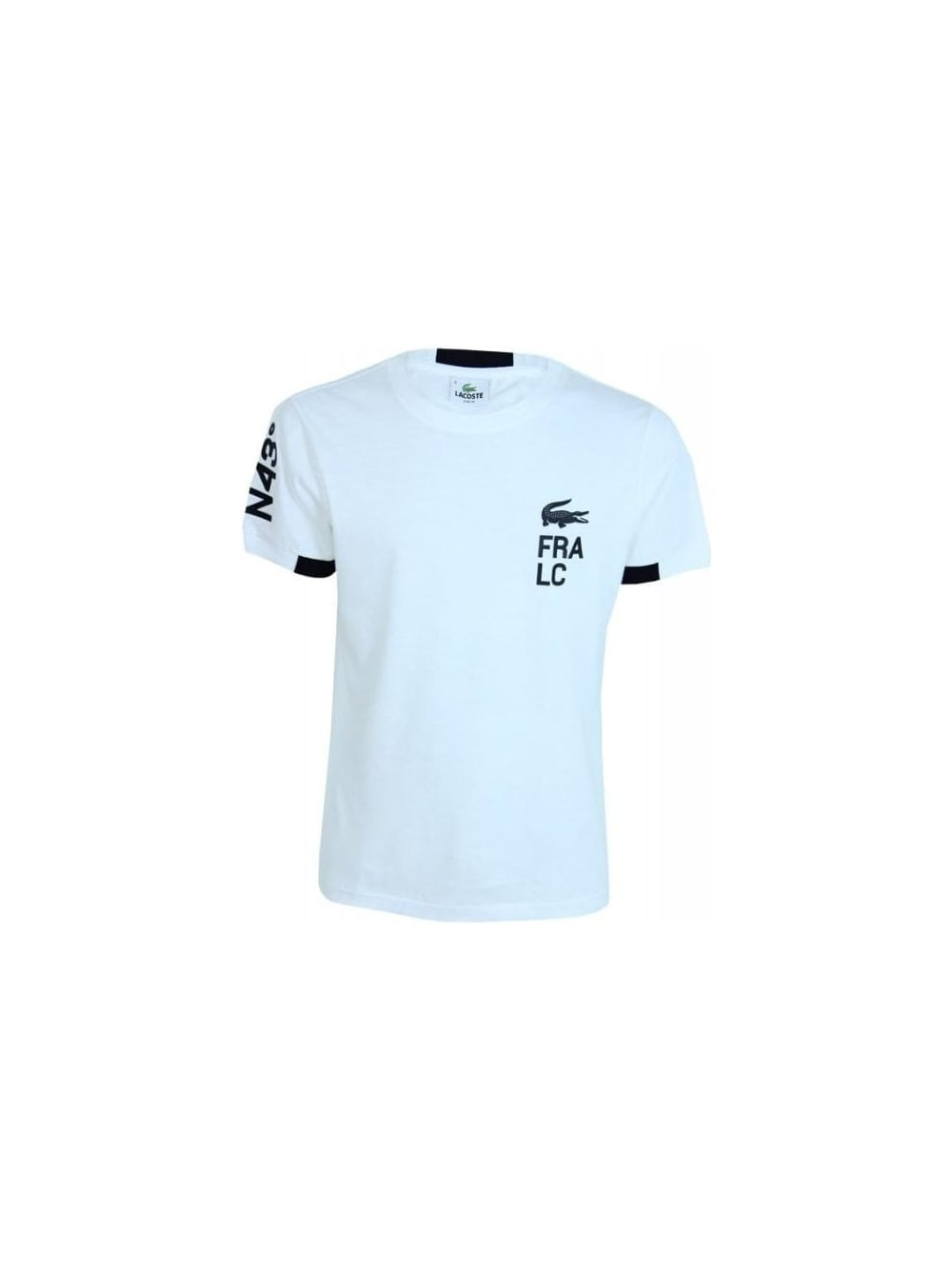 f02bf34d9636 Lacoste Oversized Logo Croc T.Shirt in White Black - Northern Threads