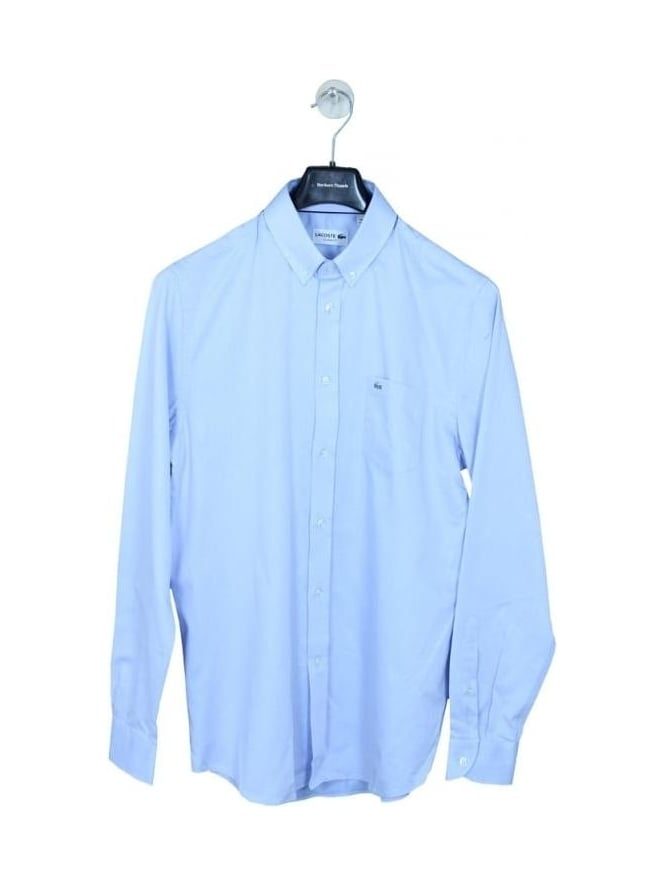 6c5d376ece04f Lacoste Oxford Weave Button Down Shirt in Sky - Northern Threads