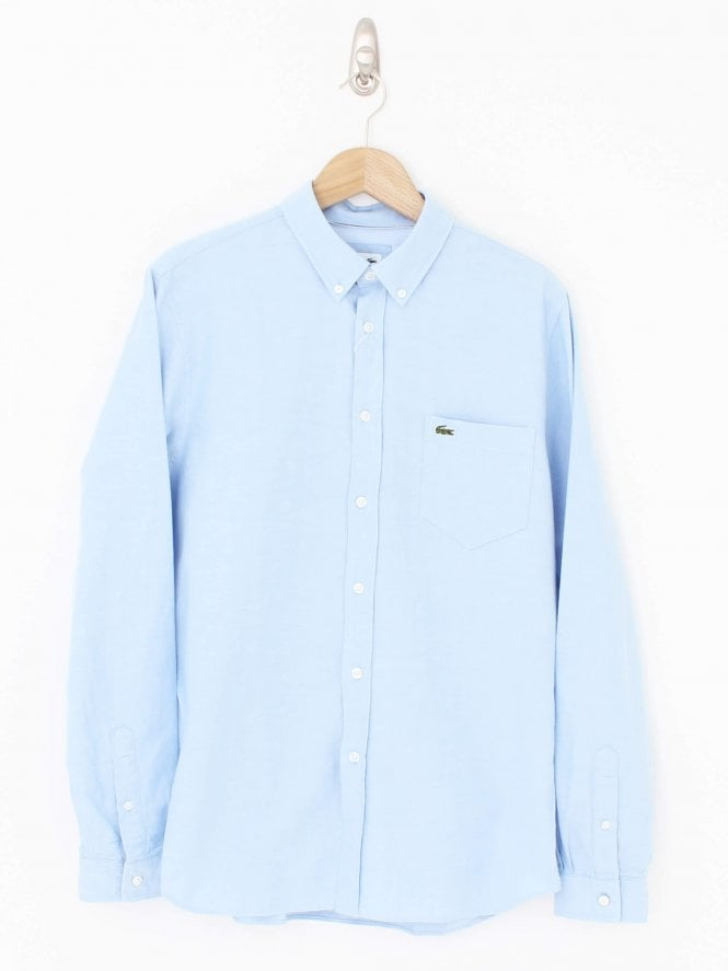 Lacoste Regular Fit Oxford Shirt - Blue Light
