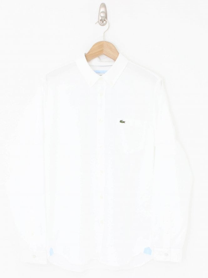 Lacoste Regular Fit Oxford Shirt - White