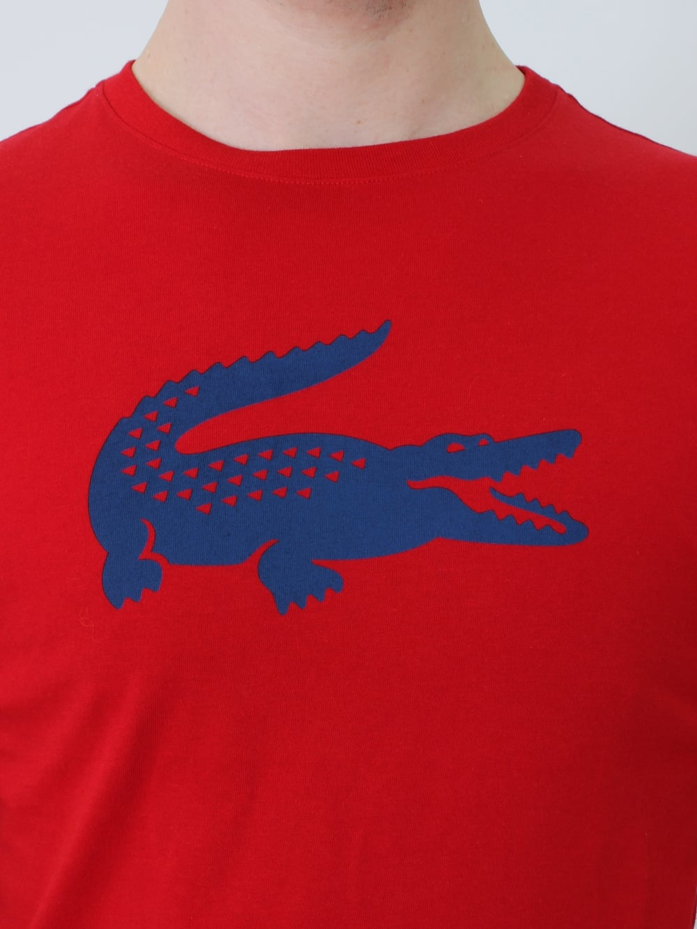 7d4c69cf4 Lacoste Sport Big Central Croc T. shirt in Red