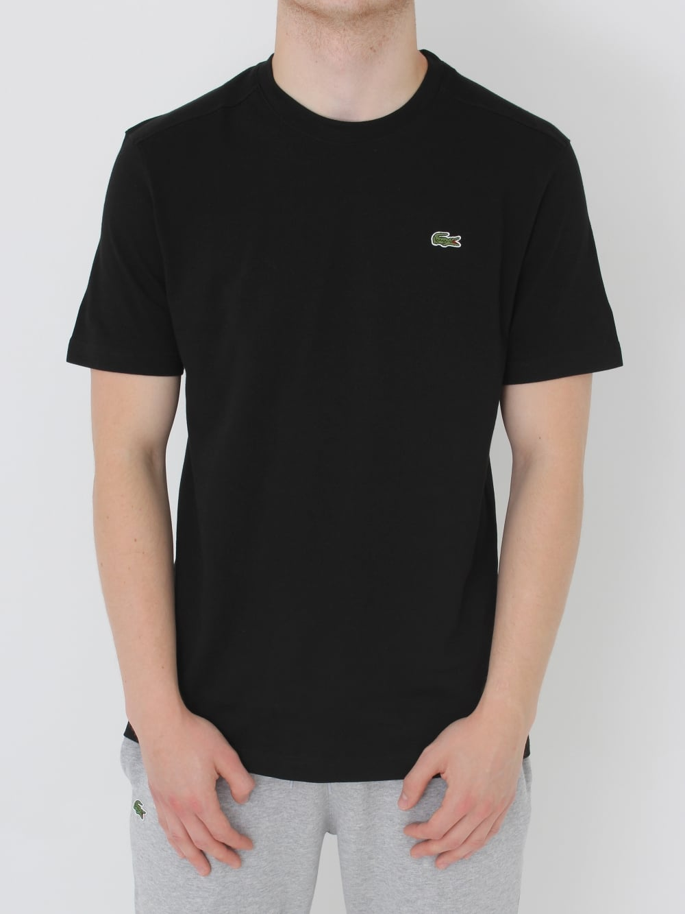 1b9a33efc024ea Lacoste Sport Classic Crew Neck T.Shirt in Black - Northern Threads