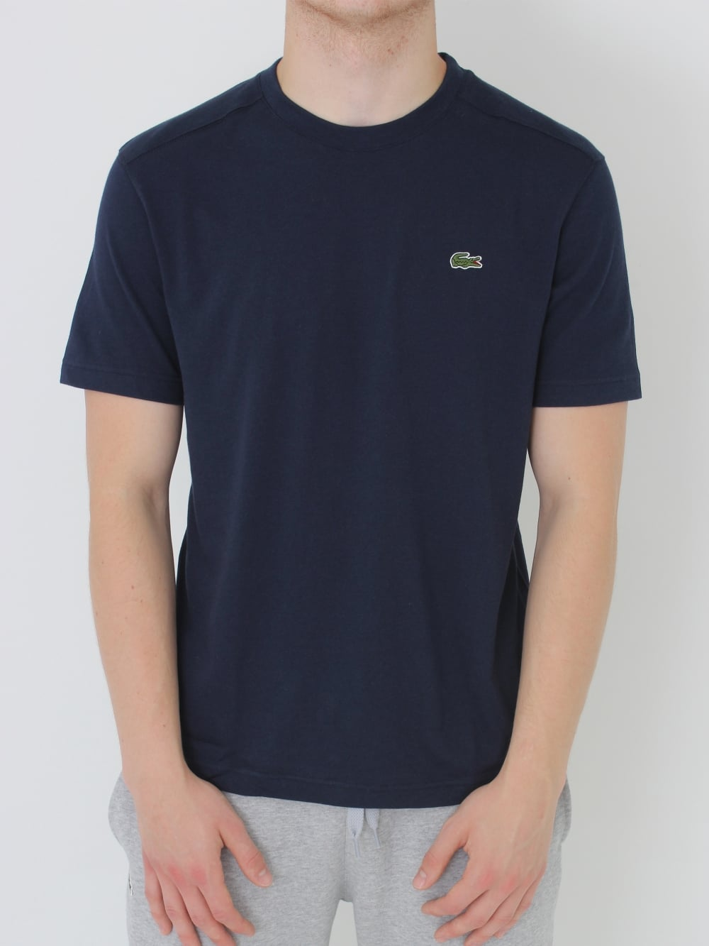 b99ba3bba654 Lacoste Sport Classic Crew Neck T.Shirt in Navy - Northern Threads