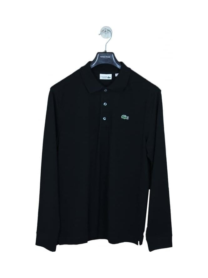 Lacoste Sport Classic Long Sleeve Polo - Black