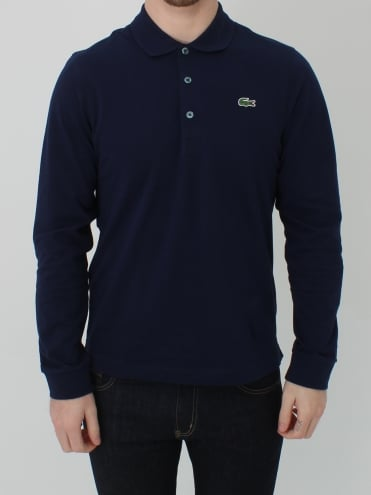 Classic Long Sleeve Polo - Navy