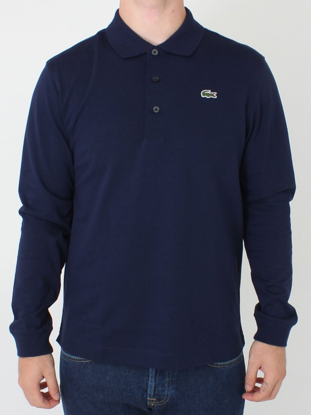 8af78b375291 Lacoste Sport Classic Long Sleeved Polo in Navy