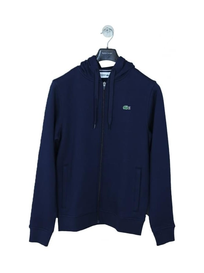 Lacoste Sport Hooded Zip Through Sweat - Navy