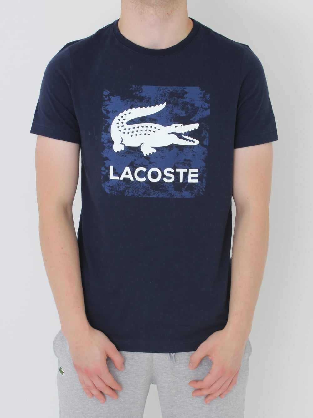 lacoste sport logo t shirt in navy northern threads. Black Bedroom Furniture Sets. Home Design Ideas