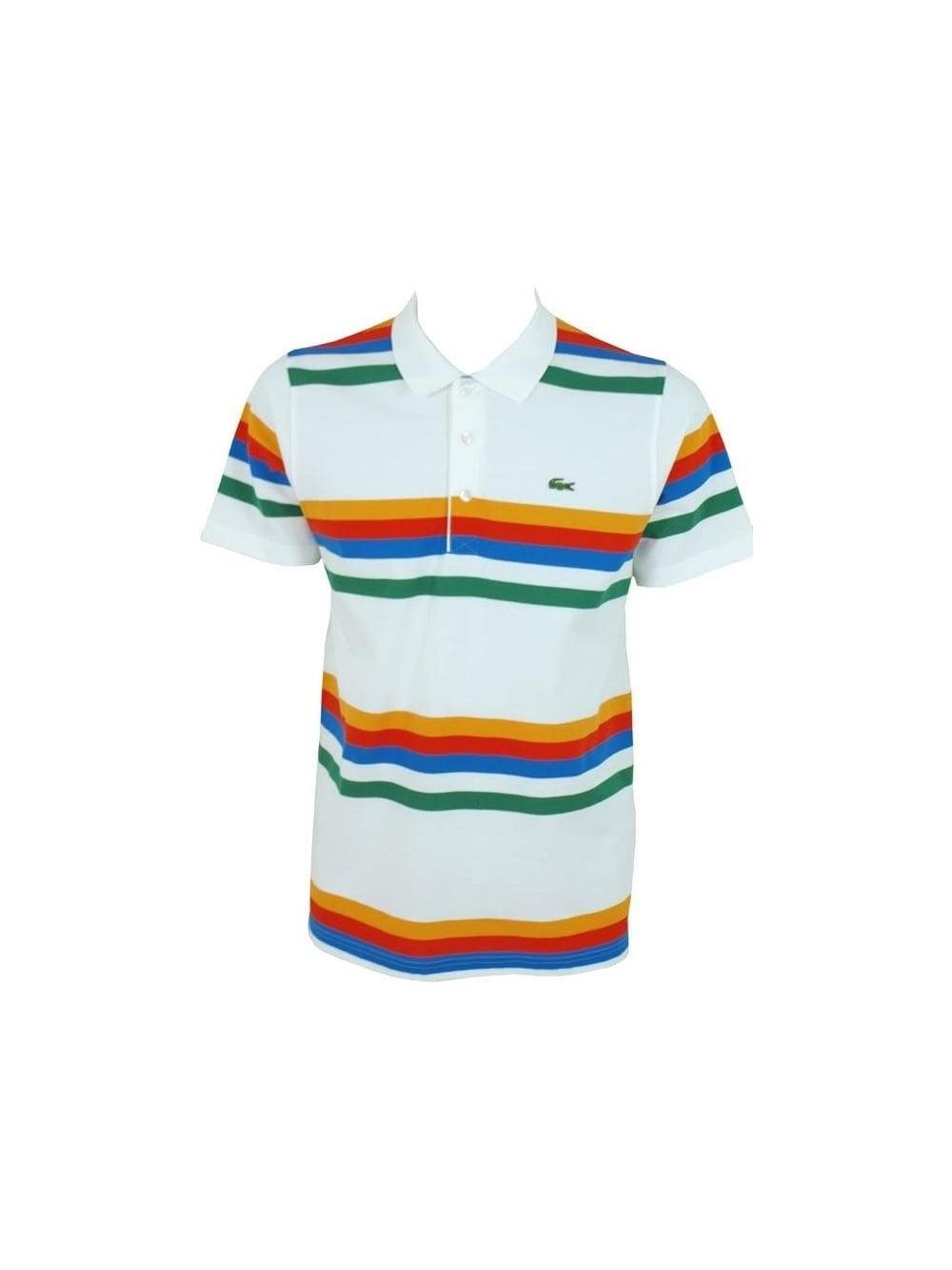 9fb60e4d Lacoste Sport Multi Stripe Polo in Blanc - Northern Threads