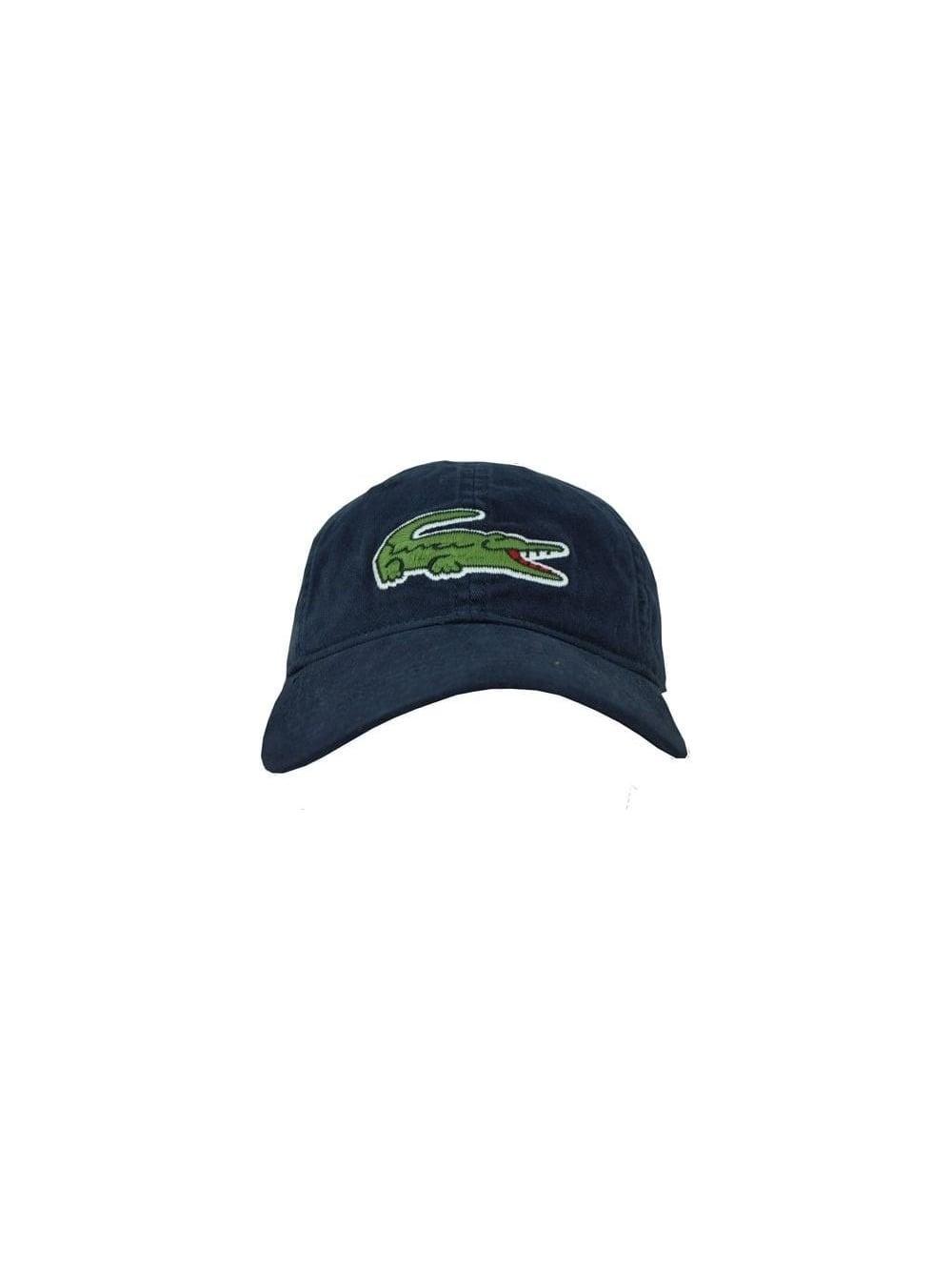 Lacoste Sport Oversized Croc Logo Cap in Eclipse - Northern Threads a87b6211e141