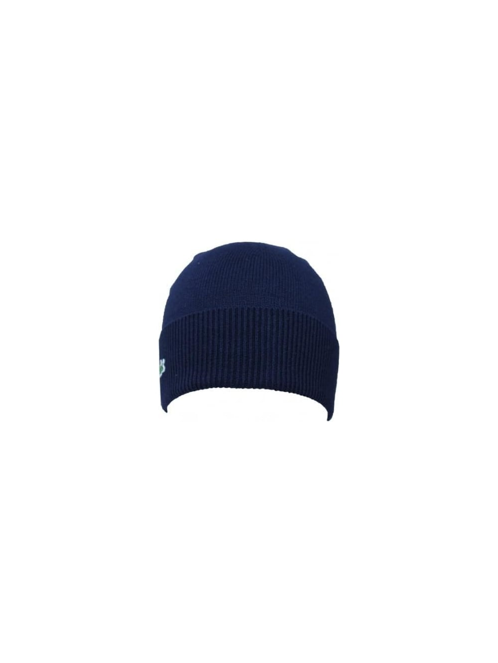 Lacoste Sport Ribbed Beanie in Navy - Northern Threads 08cd9aee958d