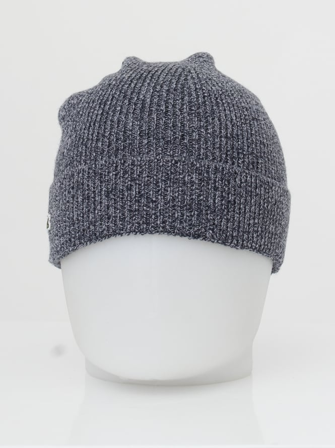 46582568 Lacoste Sport Ribbed Logo Beanie in Mouline - Northern Threads