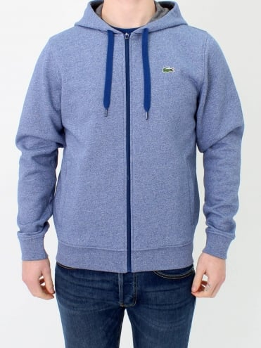 Sport Hooded Zip Through Sweat - Marino Jaspe