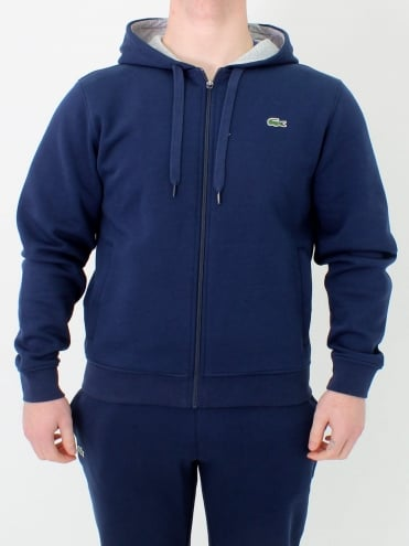 Sport Hooded Zip Through Sweat - Navy