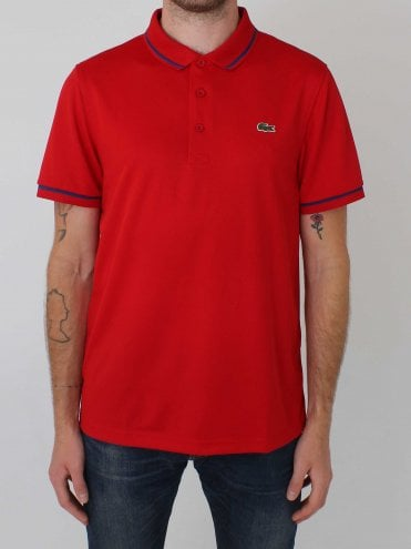 Sport Tipped Collar Polo - Red