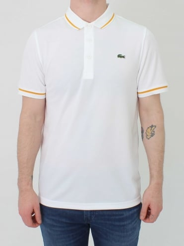 Sport Tipped Collar Polo - White