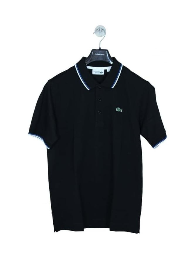 Lacoste Sport Tipped Collar Polo - Black