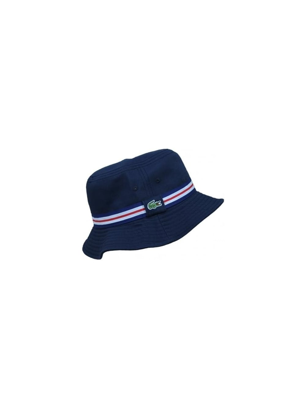 Lacoste Tipped Bucket Hat in Navy Blue - Northern Threads 1283c7cac14b