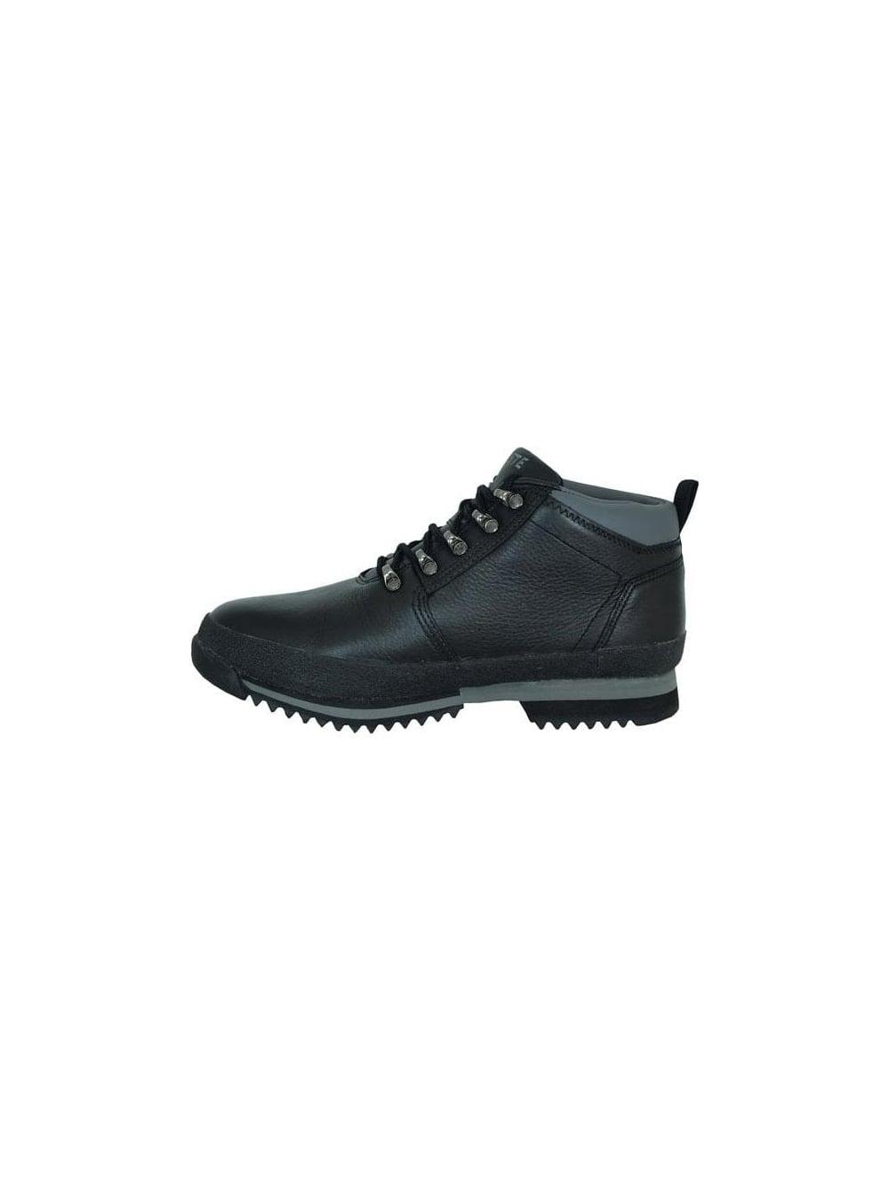 15857bb9621d5 Lacoste Footwear - Lacoste Upton Leather Spm Mid Boot - Black Grey ...
