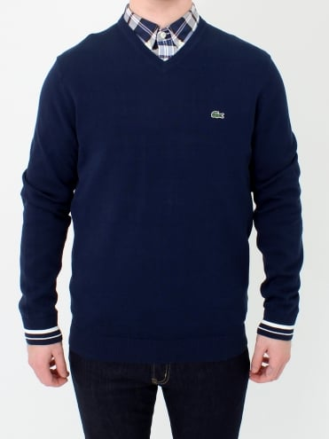 V-Neck Knit - Navy