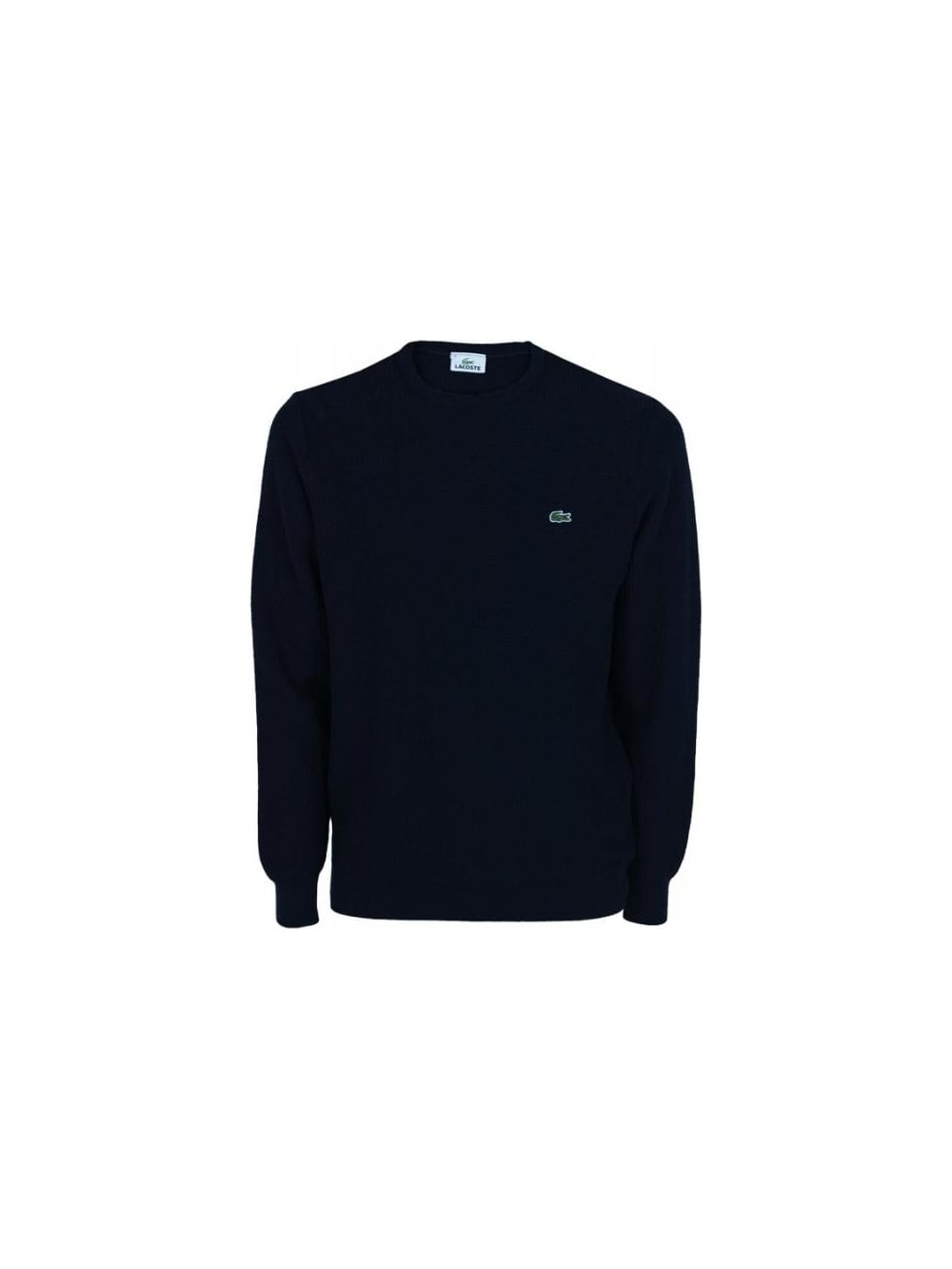fc03cfb839 Lacoste waffle Crew Neck Knit in Navy - Northern Threads