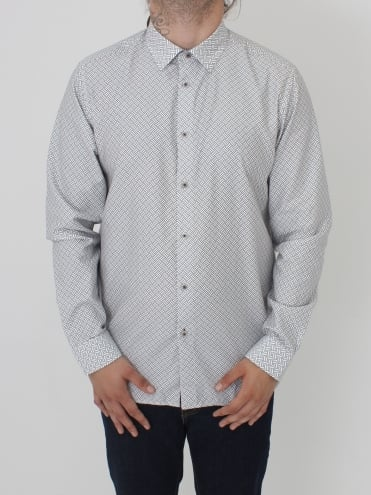Larosh Rectangle Print Shirt - White