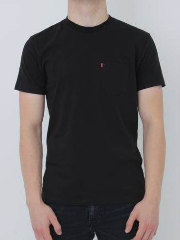 Sunset Pocket T-Shirt - Black