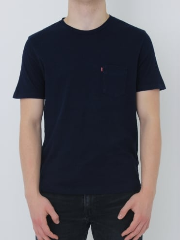 Sunset Pocket T-Shirt - Indigo