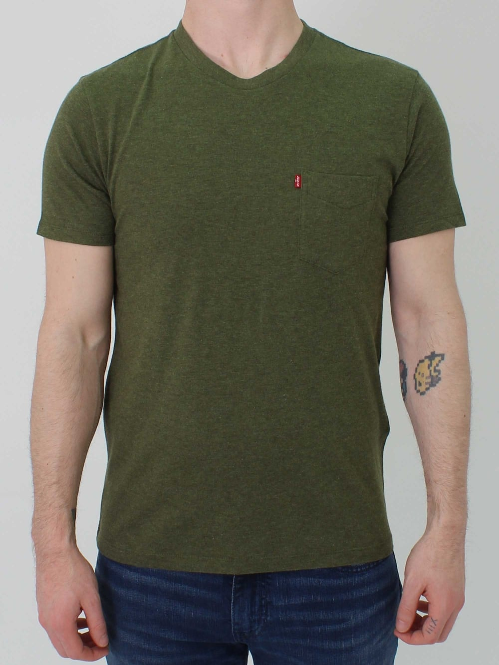 Levis sunset pocket t shirt in sea northern threads for Levis plain t shirts