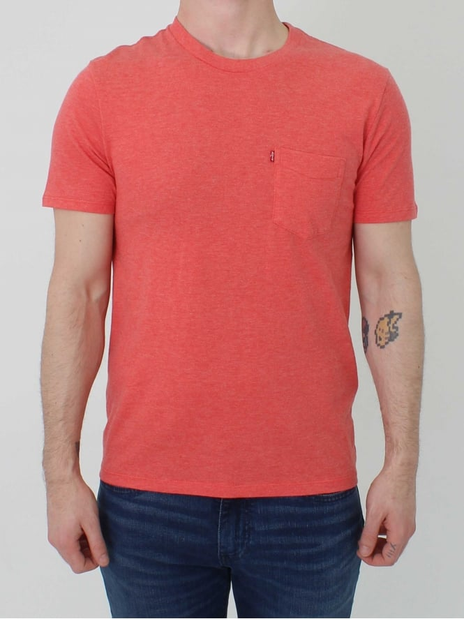 Levis sunset pocket t shirt in sunset northern threads for Levis plain t shirts