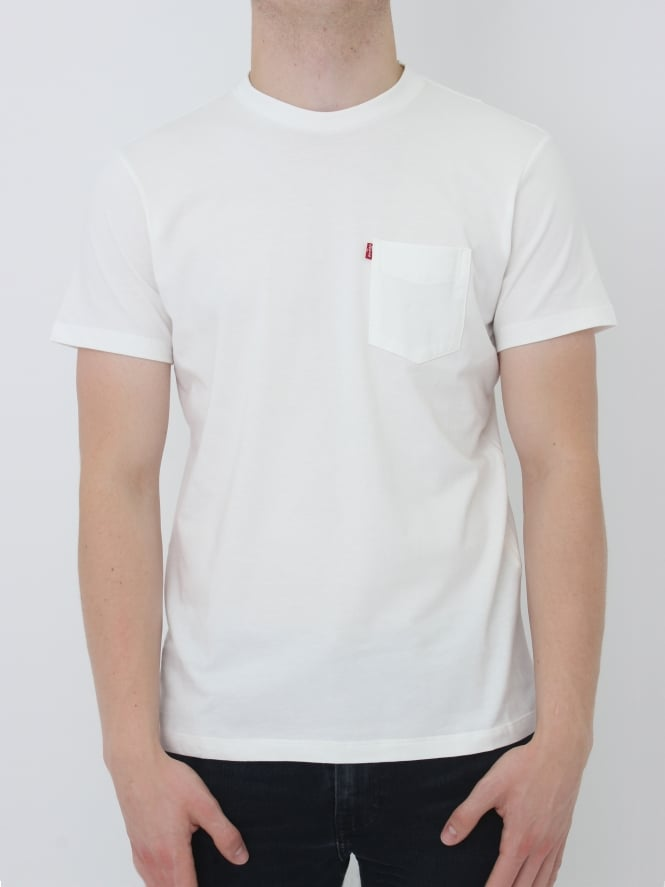 Levi's Sunset Pocket T-Shirt - White Smoke