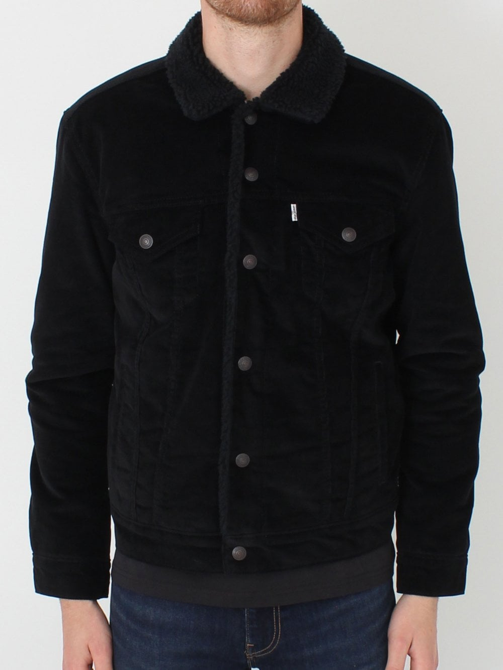 Levis Type 3 Sherpa Trucker in Black  fe8c0eea32ac