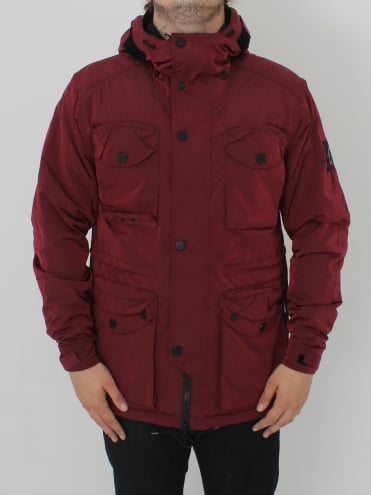 Liquid Nylon Snow Parka - Bordeaux