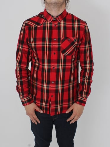 Heyday Patch Pocket Shirt - Red