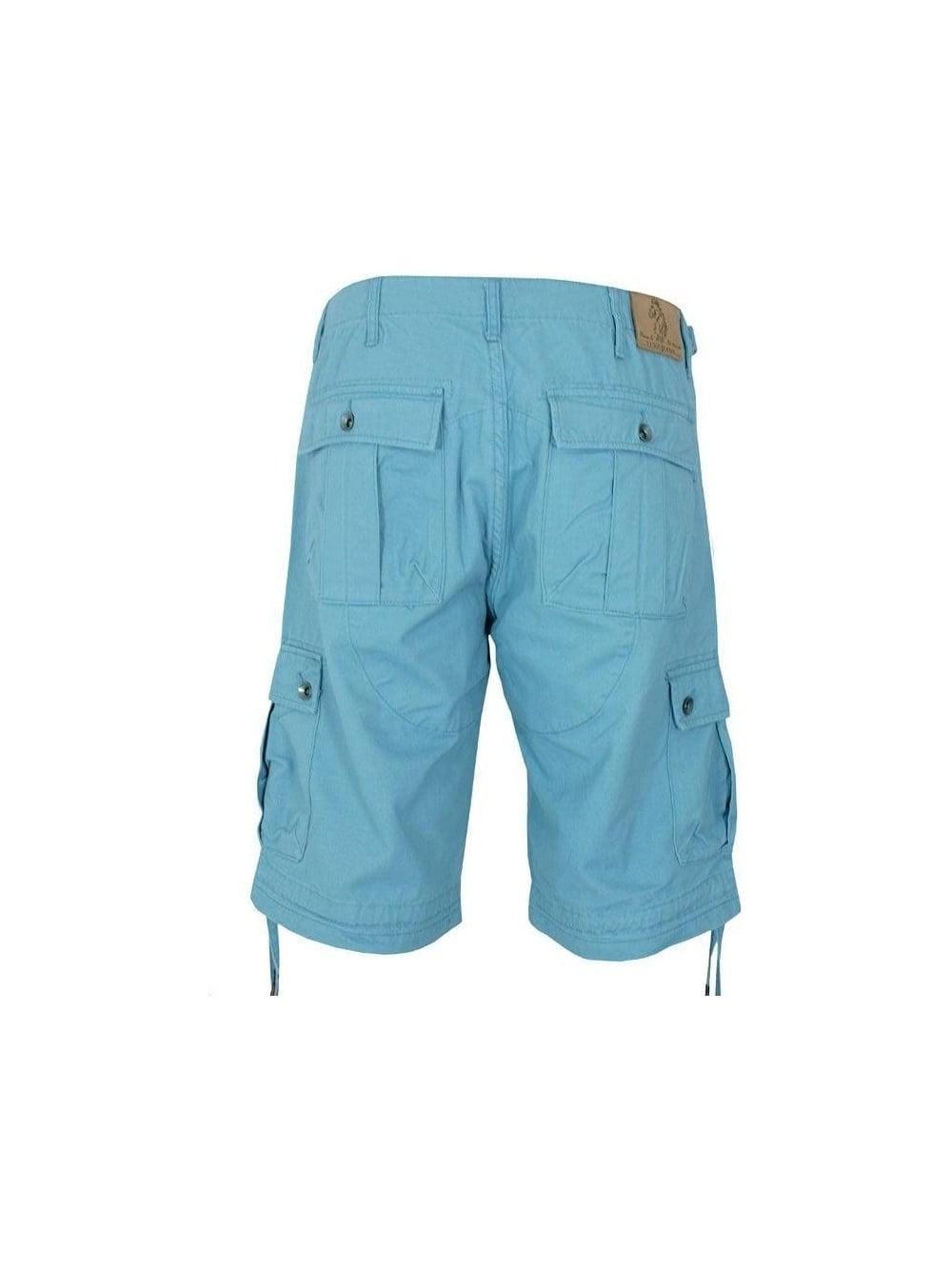Mens Luke 1977 Knockers Long Cargo Shorts - Blue Cement  21bd410bb69e