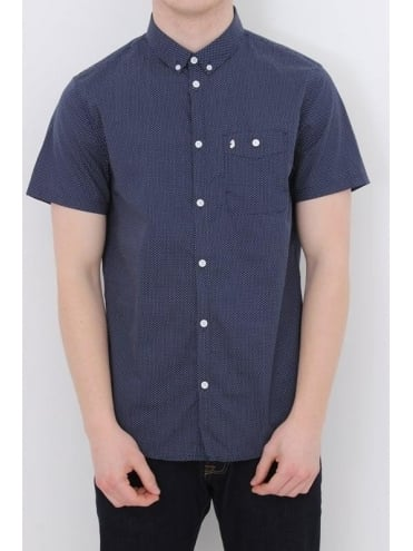 Little Ronnie Printed Shirt - Navy