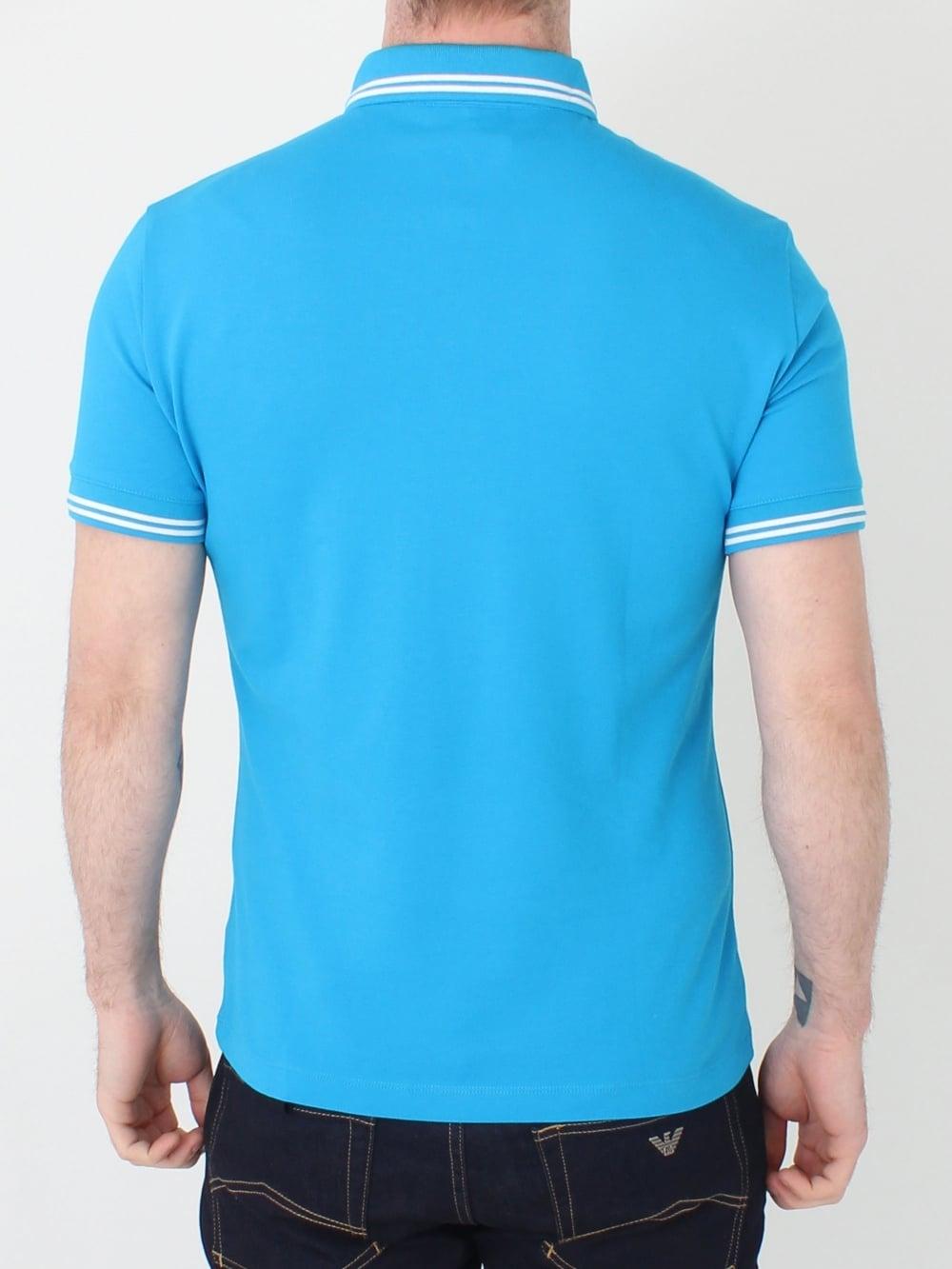 833d6bf3ae11b Emporio Armani Polo in Brite Blue