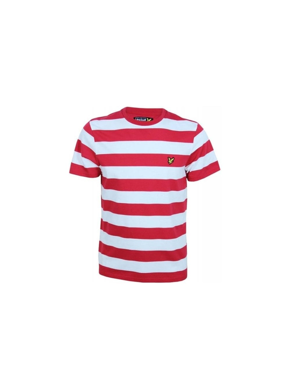 Lyle And Scott Block Stripe Tshirt In Royal Red Northern Threads Ampamp Polo Shirt