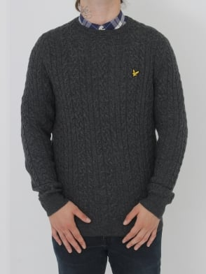 Lyle and Scott Cable Jumper - Charcoal