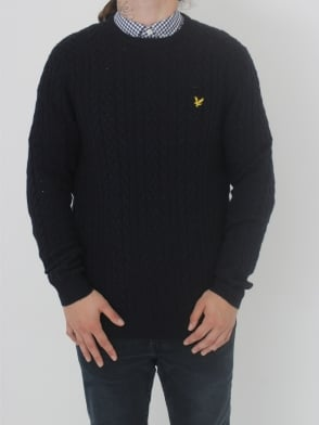 Lyle and Scott Cable Jumper - Navy